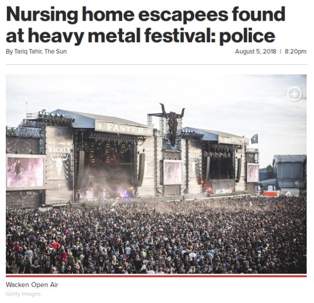 Nursing home escapees